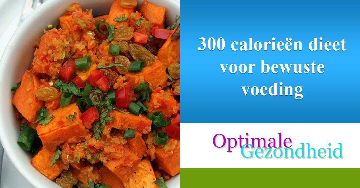 300 calorieën dieet voor bewuste voeding