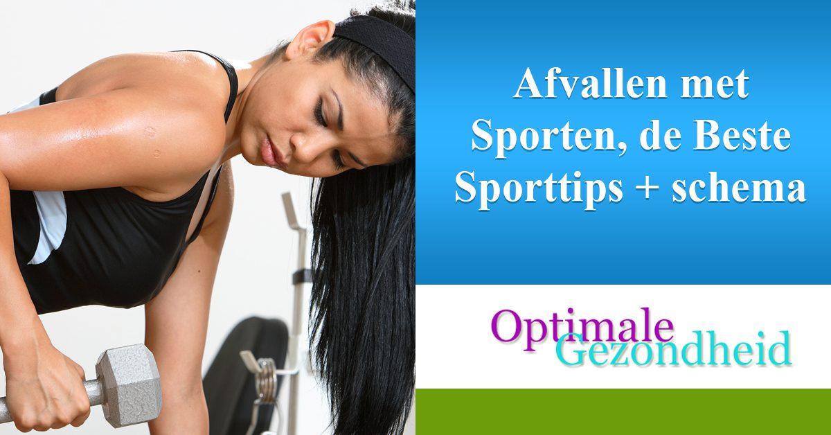 Afvallen met Sporten, de Beste Sporttips + schema