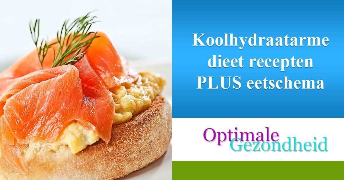 Koolhydraatarme dieet recepten PLUS eetschema