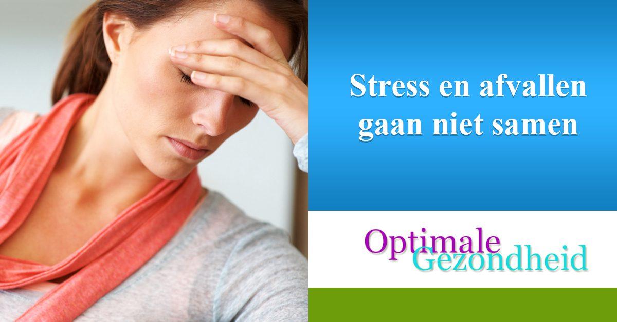 Stress en afvallen gaan niet samen