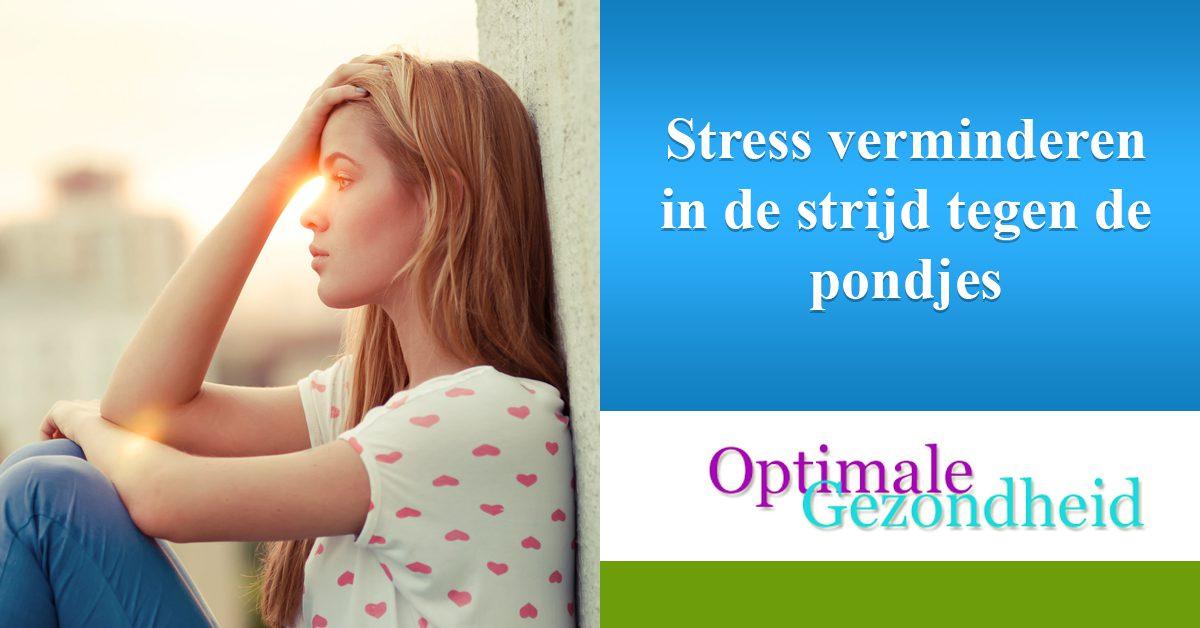 Stress verminderen in de strijd tegen de pondjes