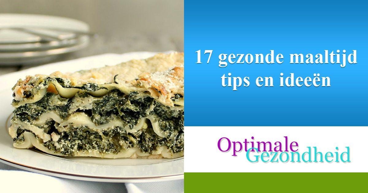 Gezonde maaltijd tips en ideeën optimalegezondheid