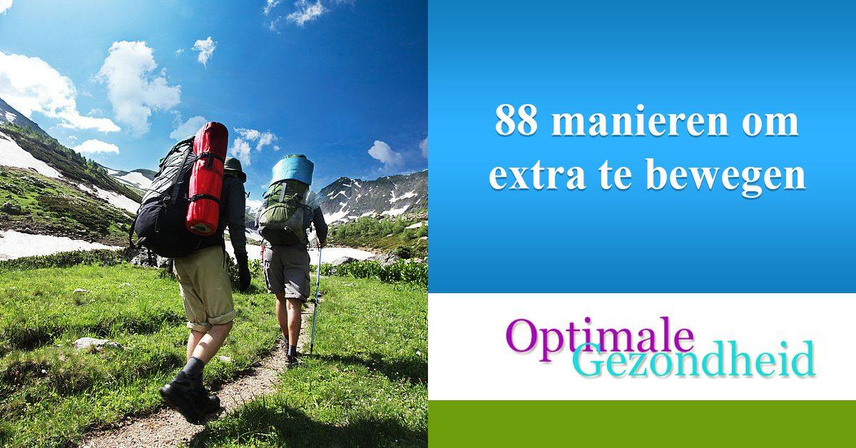 88 manieren om extra te bewegen