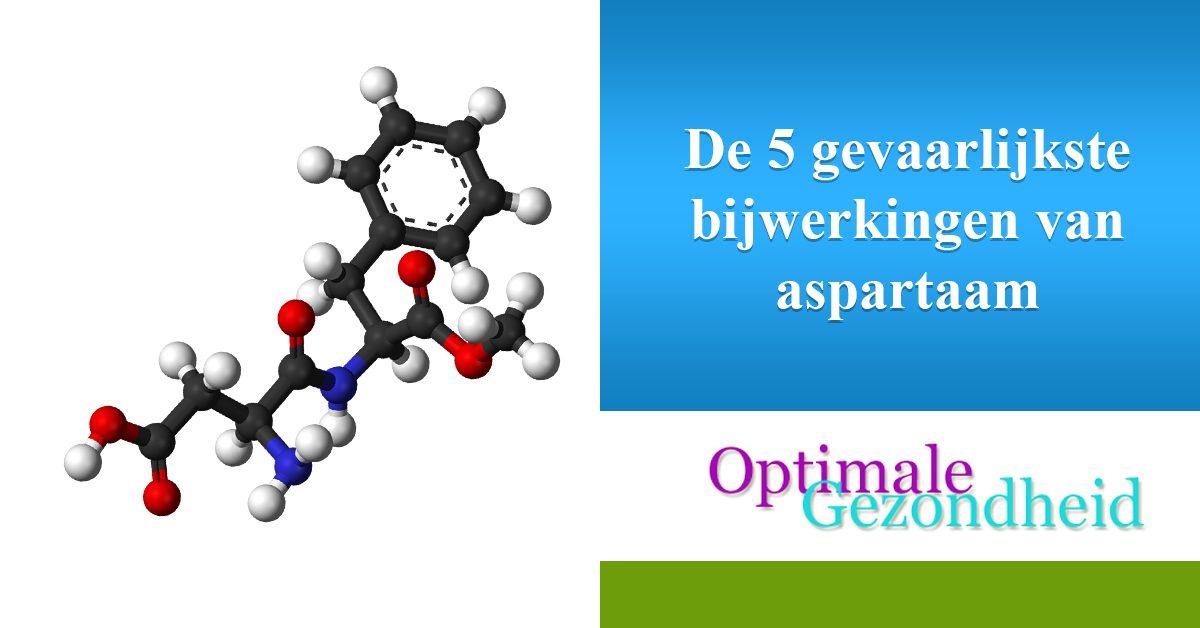 De 5 gevaarlijkste bijwerkingen van aspartaam