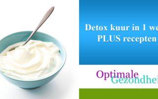 Detox kuur in 1 week PLUS recepten