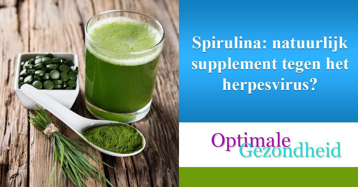 Spirulina natuurlijk supplement tegen het herpesvirus