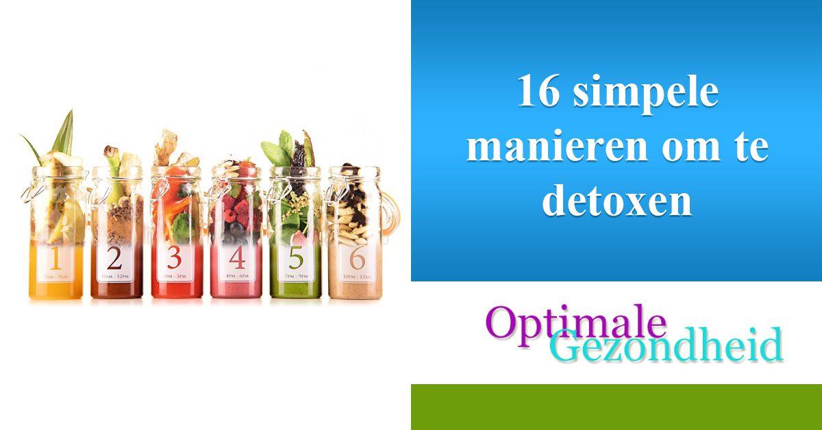 16 simpele manieren om te detoxen