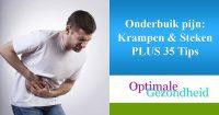 Onderbuik pijn Krampen & Steken PLUS 35 Tips