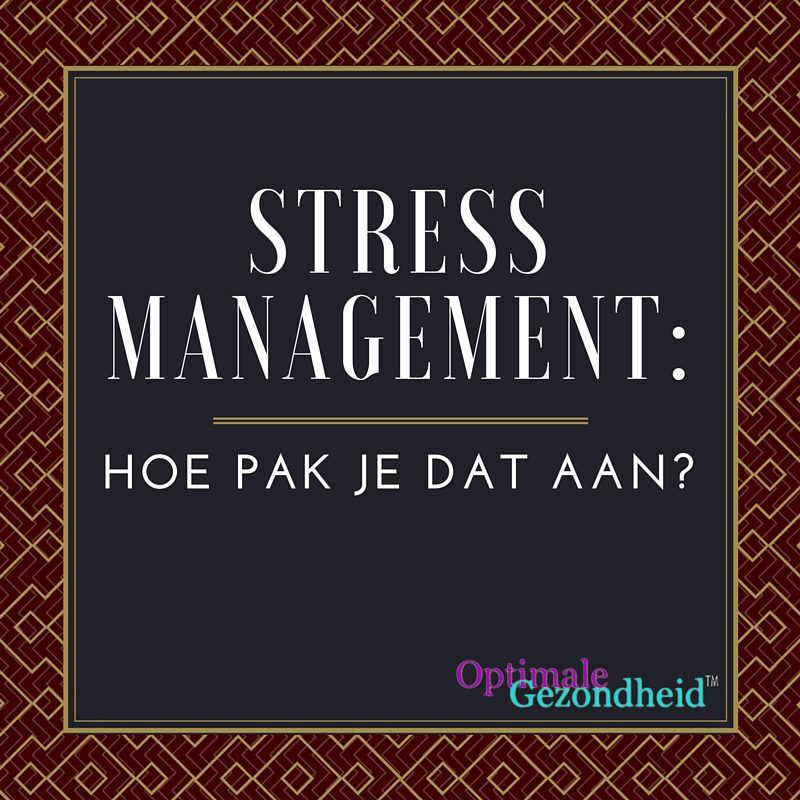 Hoe houd je stress onder controle?