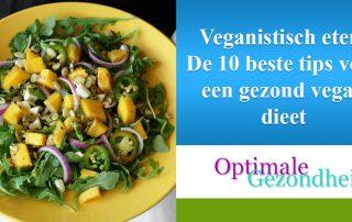 Veganistisch eten De 10 beste tips voor een gezond vegan dieet