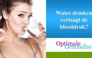 Water drinken verlaagt de bloeddruk