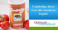 Cambridge dieet Lees dit voordat je begint!