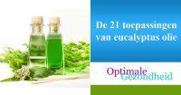 De 21 toepassingen van eucalyptus olie