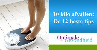 10 Kilo afvallen dieet