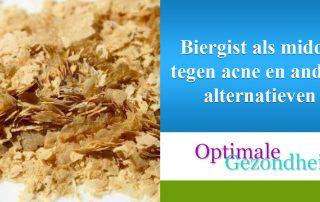 Biergist als middel tegen acne en andere alternatieven