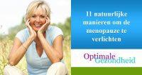 11 natuurlijke manieren om de menopauze te verlichten
