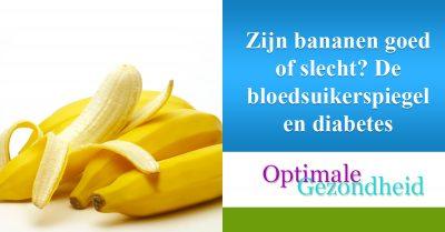 Zijn bananen goed of slecht De bloedsuikerspiegel en diabetes