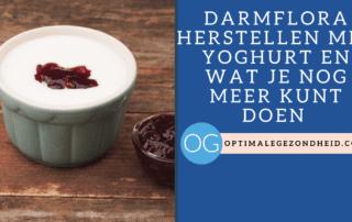 Darmflora herstellen met yoghurt