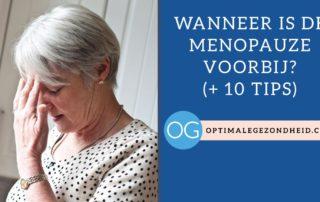 Wanneer is de menopauze voorbij?