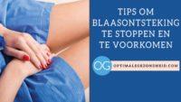 Blaasontsteking stoppen en voorkomen