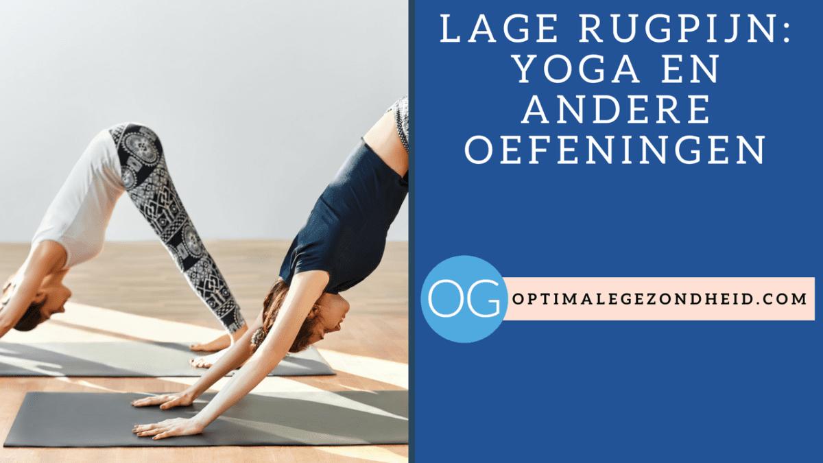 hardlopen met lage rugpijn