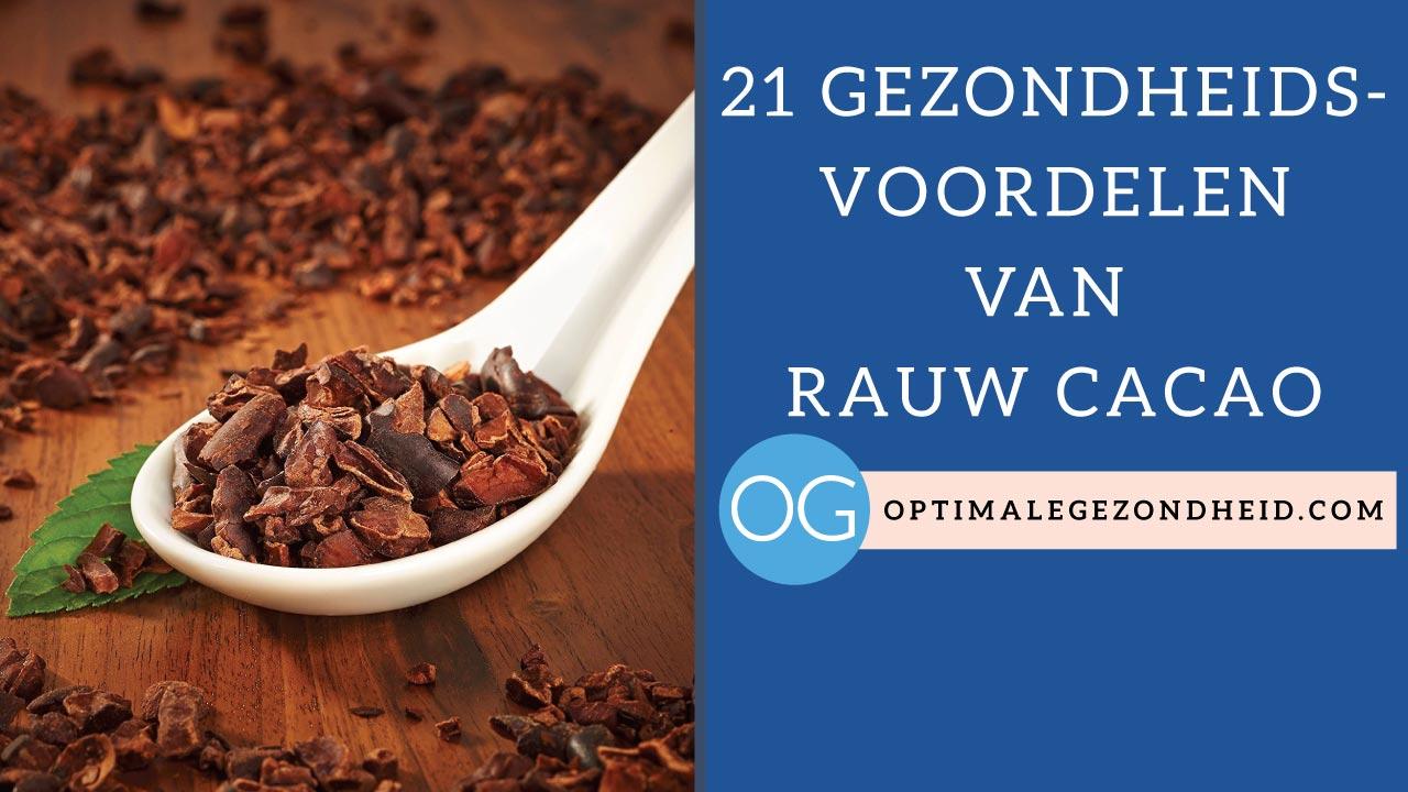 gezondheidsvoordelen rauw cacao