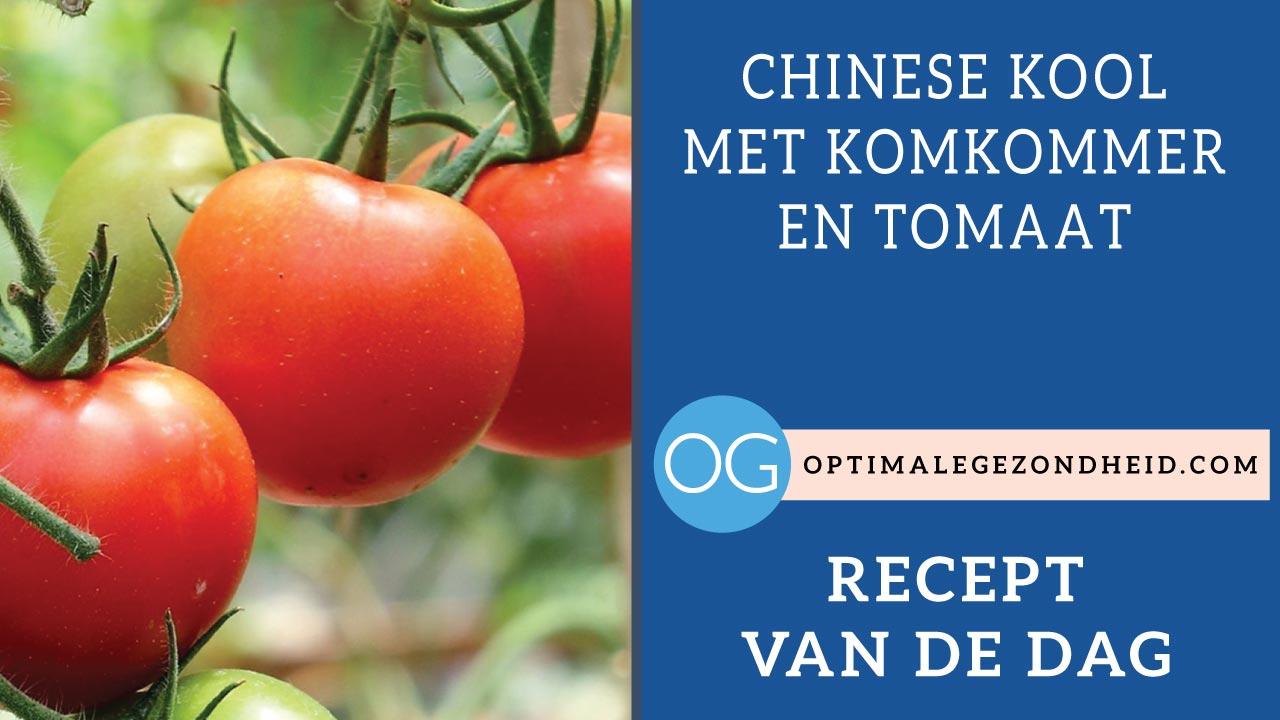 Recept van de dag: Chinese kool met komkommer en tomaat