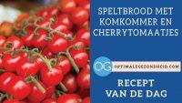 Recept van de dag: Speltbrood met komkommer en cherrytomaatjes