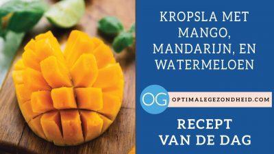 Recept van de dag: Kropsla met mango, mandarijn, en watermeloen