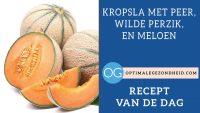 Recept van de dag: Kropsla met peer, wilde perzik, en meloen