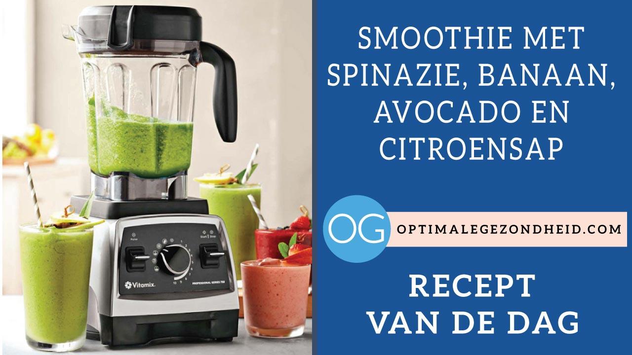 Recept van de dag: Smoothie met spinazie, banaan, avocado, en citroensap