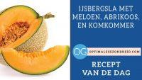 Recept van de dag: IJsbergsla met meloen, abrikoos, en komkommer