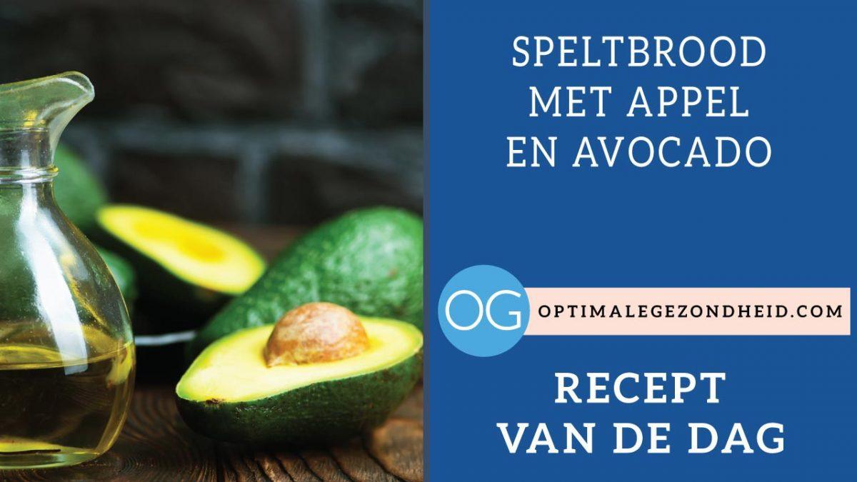 Recept van de dag: Speltbrood met appel en avocado