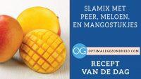 Recept van de dag: Slamix met peer, meloen, en mangostukjes