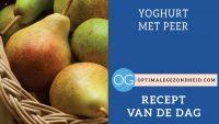 Recept van de dag: Yoghurt met peer