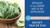 Recept van de dag: Spinazie a la crème met ei en appelmoes
