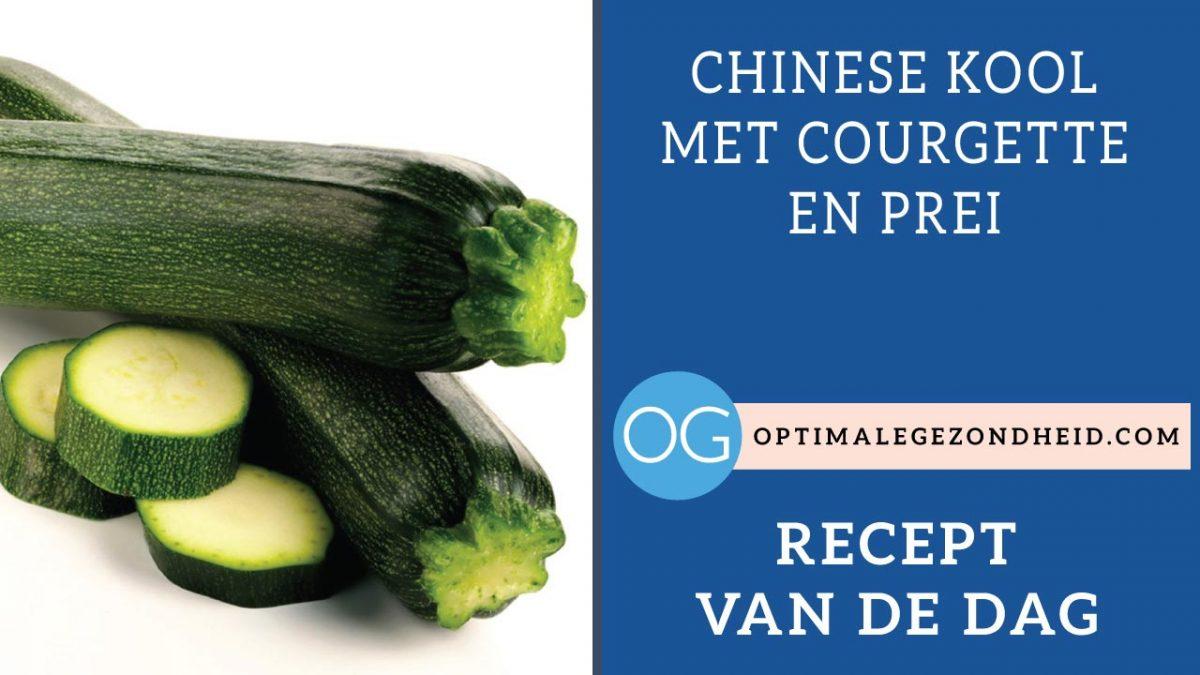 Recept van de dag: Chinese kool met courgette en prei