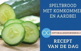 Recept van de dag:Speltbrood met komkommer en aardbei