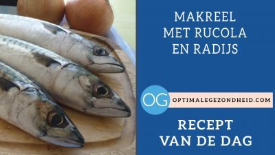 Recept van de dag: Makreel met rucola en radijs