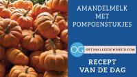 Recept van de dag: Amandelmelk met pompoenstukjes
