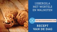 Recept van de dag: IJsbergsla met wortels en walnoten