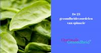 gezondheidsvoordelen van spinazie