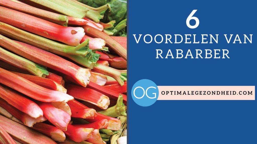 De 6 gezondheidsvoordelen van rabarber